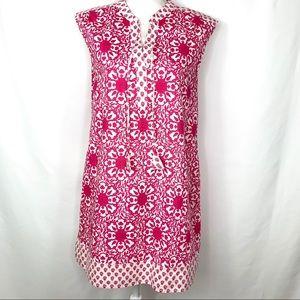 Vineyard Vines Pink & White Floral Shift Dress M